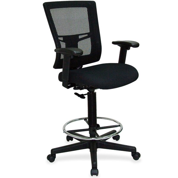 Breathable Mid-Back Mesh Drafting Chair by Lorell