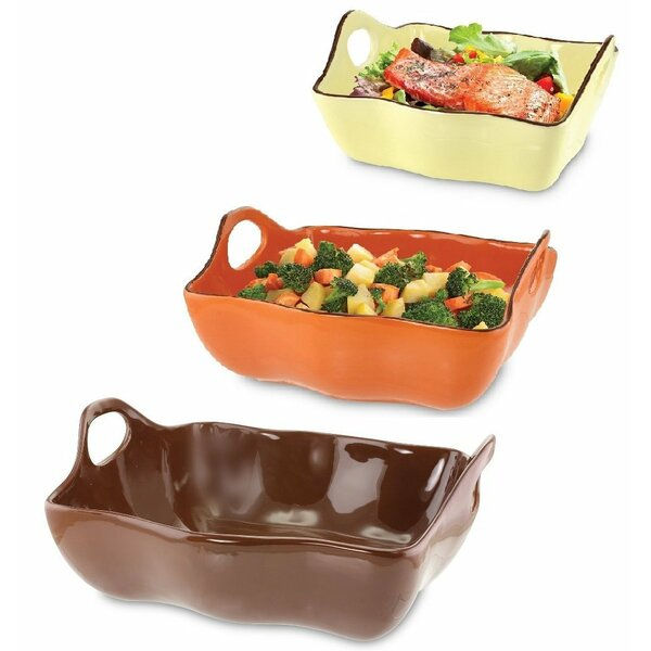 Rectangular Ceramic Casserole Set (Set of 3) by Kovot