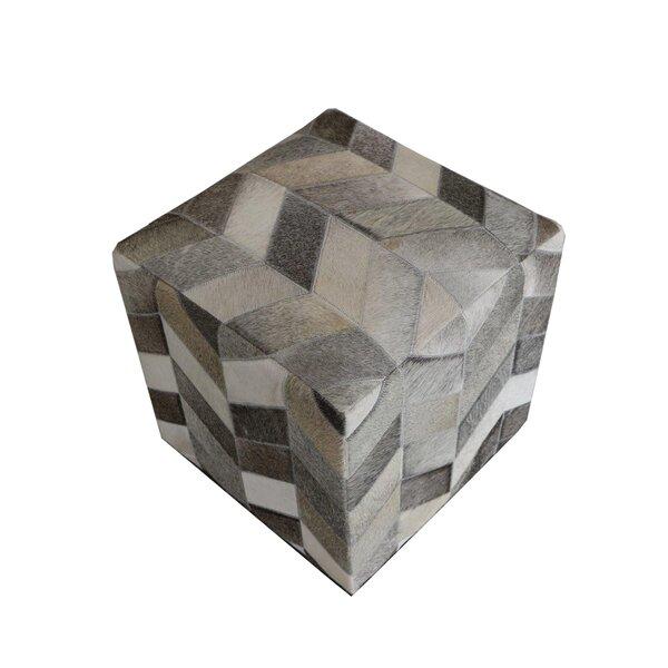 Golla Geometric Hide Pouf by Wrought Studio