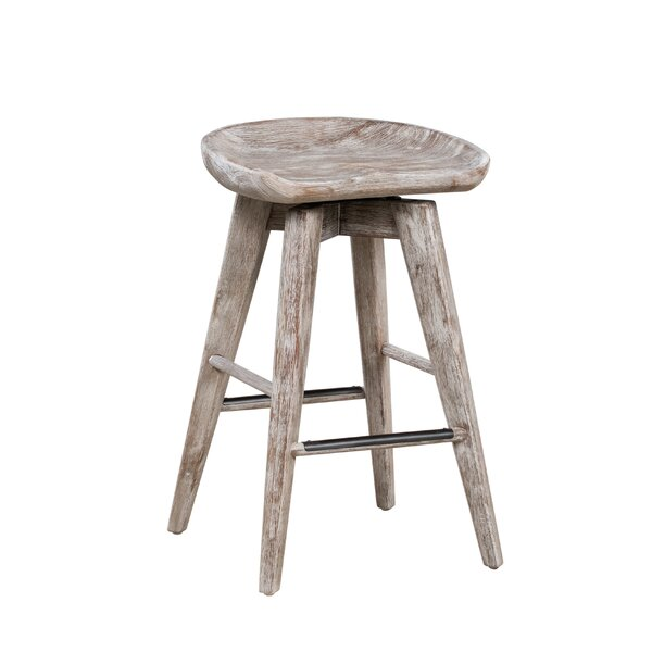 Manzer 25.75 Swivel Bar Stool by Gracie Oaks