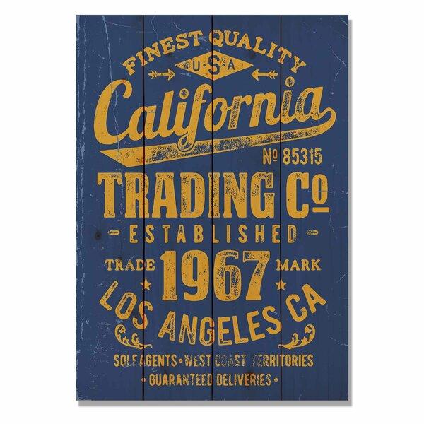 4 Piece Wile E. Wood California Trading Company Textual Art Set by Gizaun Art