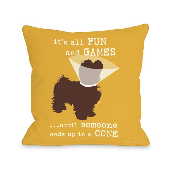 Basher Fun and Games Throw Pillow by Archie & Oscar