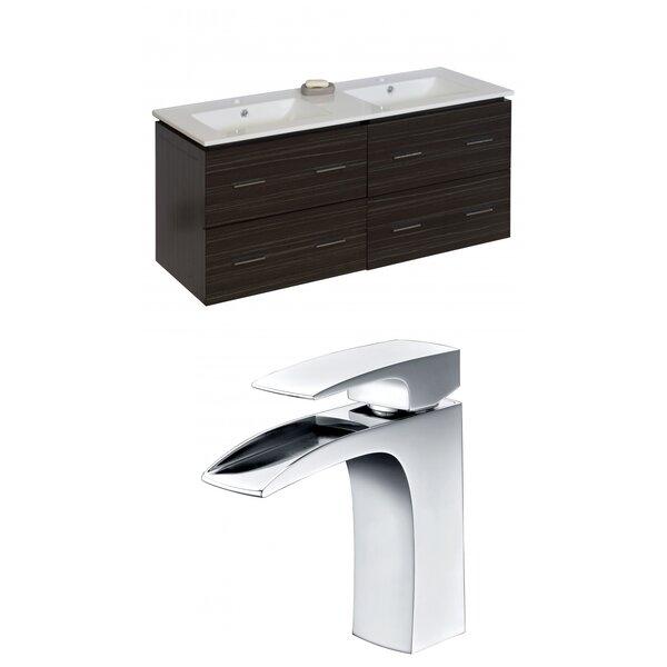 Kyra 48 Rectangle Double Bathroom Vanity Set with 4 Drawers