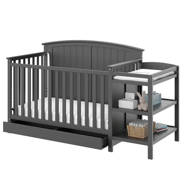 Storkcraft Steveston 4 In 1 Convertible Crib And Changer By Storkcraft.