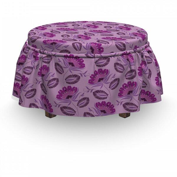 Nature InspiFlora 2 Piece Box Cushion Ottoman Slipcover Set By East Urban Home