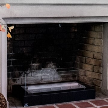 ventless curved heater fireplace electric inch p insert