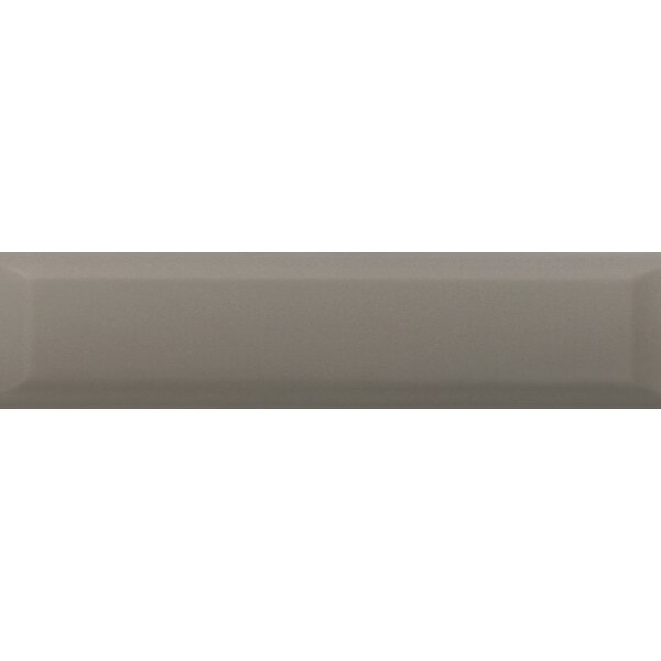 Choice Beveled 4 x 16 Ceramic Subway Tile in Glossy Taupe by Emser Tile