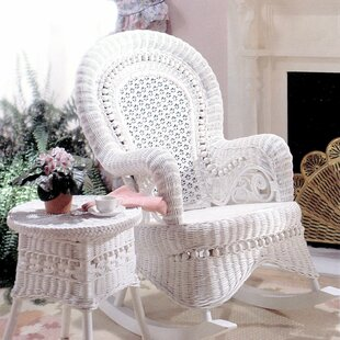 Country White Rocking Chair Yesteryear Wicker