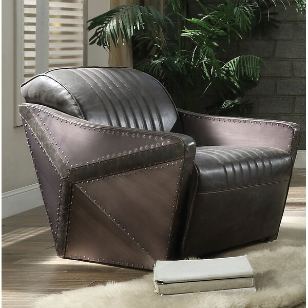 Lux Leather Loveseat by 17 Stories