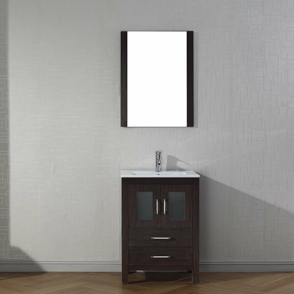 Cartagena 24 Single Bathroom Vanity Set with Ceramic Top and Mirror by Mercury RowCartagena 24 Single Bathroom Vanity Set with Ceramic Top and Mirror by Mercury Row