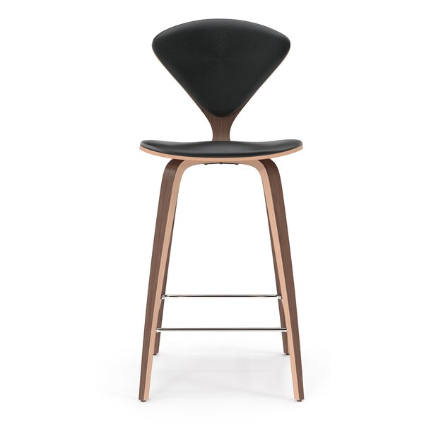 Olivia Genuine Leather Bar & Counter Stool by Langley Street