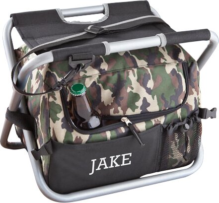 12 Can Personalized Gift Deluxe Camouflage Sit and Sip Cooler by JDS Personalized Gifts