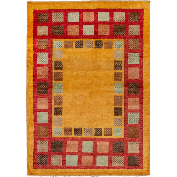 One-of-a-Kind Alasdair Hand-Knotted Wool Light Brown Area Rug by Isabelline