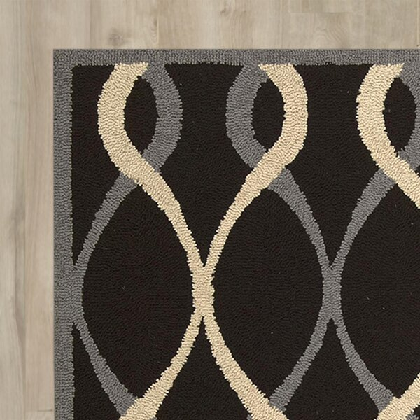 LaGuardia Hand-Tufted Black Area Rug by Wrought Studio