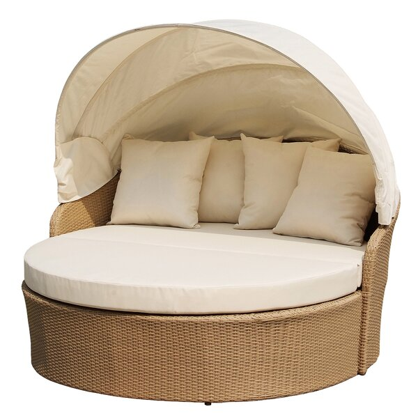 Bercut Outdoor Canopy Daybed with Mattress by Bayou Breeze Bayou Breeze