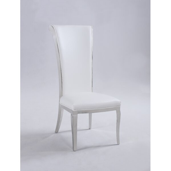 Mukesh Rolled Back Upholstered Dining Chair (Set of 2) by Everly Quinn