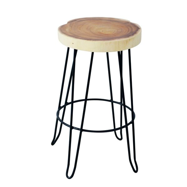 Aramingo 24 Teak Patio Bar Stool by Mercury Row