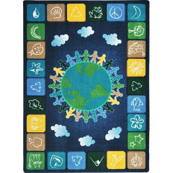 Kid Essentials One World Tufted Dark Blue/Yellow Rug