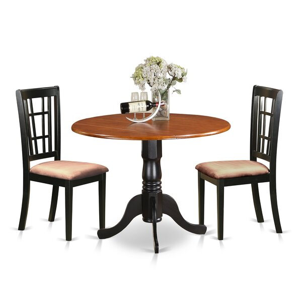 3 Piece Extendable Dining Set by East West Furniture