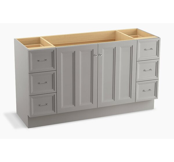 Damask™ 60 Vanity with Toe Kick, 2 Doors and 6 Drawers by Kohler