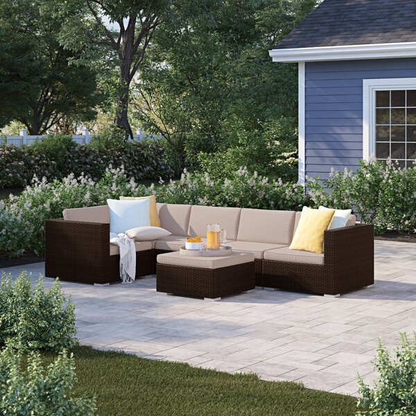 Martinez 6 Piece Sectional Seating Group with Cushions