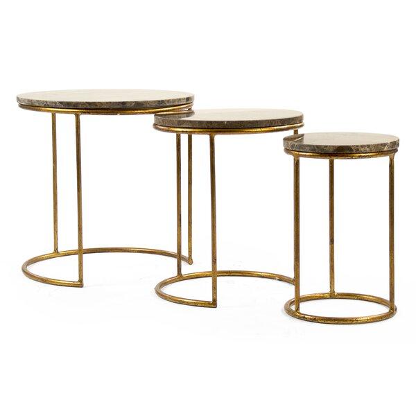 Clovis Nesting Tables (Set Of 3) By Zentique