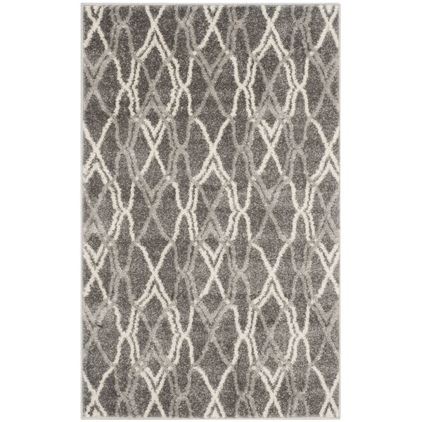 Ajax Grey/Light Grey Outdoor Area Rug by Zipcode Design
