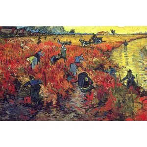 Red Vineyard at Arles by Vincent Van Gogh Painting Print on Canvas by Alcott Hill