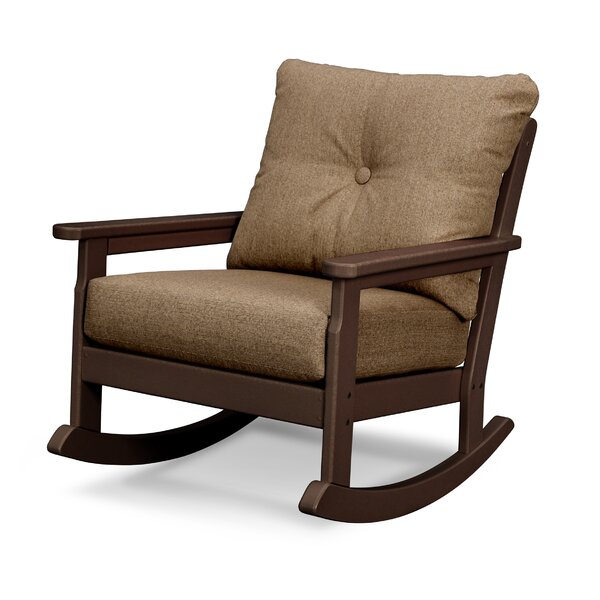 Vineyard Deep Seating Rocking Chair with Cushions by POLYWOOD®