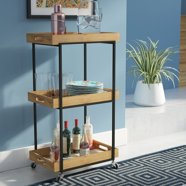 Lea Modern 3-Tier Bar Cart by Langley Street