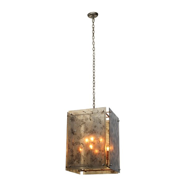 Hort 8 - Light Lantern Rectangle Chandelier by Bungalow Rose Bungalow Rose