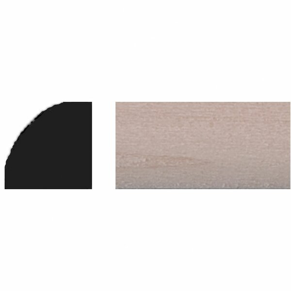 3/8 in. x 3/8 in. x 4 ft. Basswood Quarter Round Moulding by Manor House