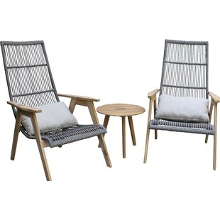 Largent Teak Patio Chair With Cushions (Set Of 2)