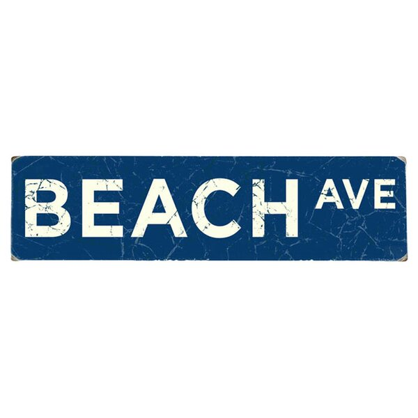 Personalized Seaside Street Textual Art on Wood by Artehouse LLC