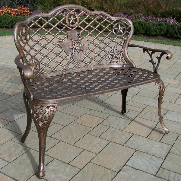 Texas Rose Aluminum Garden Bench by Oakland Living