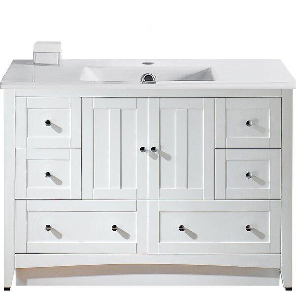 Artic Modern 48 Rectangle Single Bathroom Vanity Set by Longshore Tides