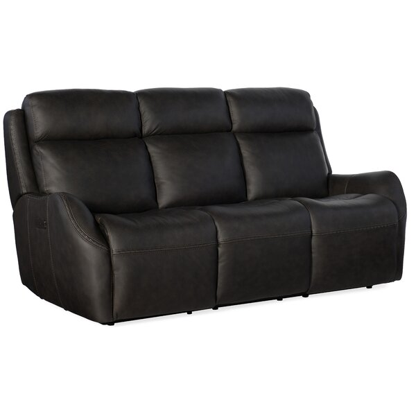 Sandovol Leather Reclining Sofa by Hooker Furniture