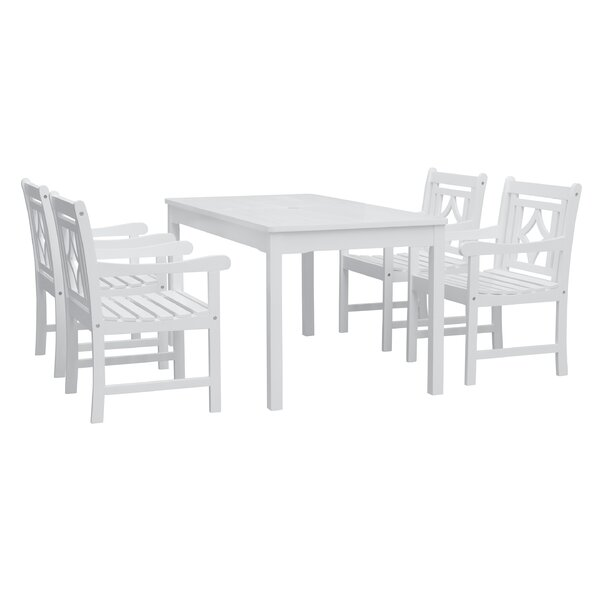 Zephyrine 5 Piece Patio Dining Set by Beachcrest Home