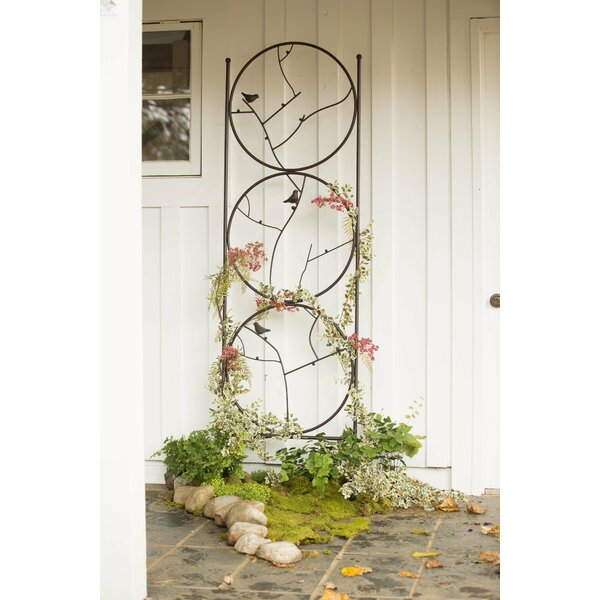 Circle of Birds Iron Gothic Trellis by Plow & Hearth