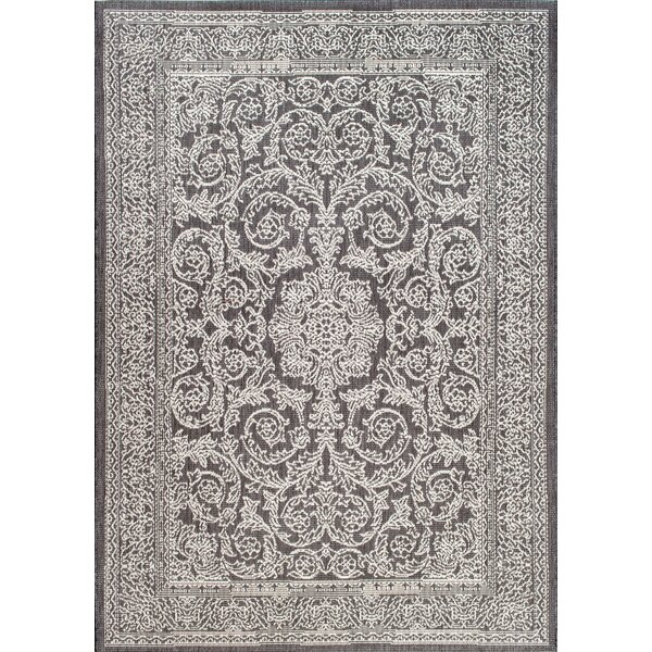 Gray/Black Indoor/Outdoor Area Rug by Thomas Paul