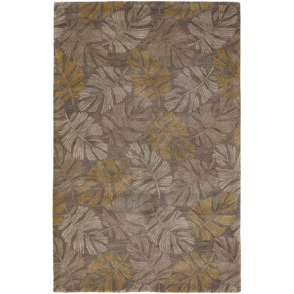 Pierview Light Brown Area Rug by Bay Isle Home