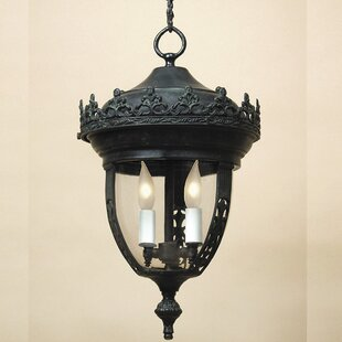 Affordable Medium 3-Light Outdoor Hanging Lantern By JVI Designs