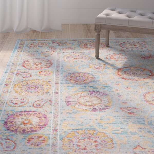Shady Dale Light Blue Area Rug by One Allium Way