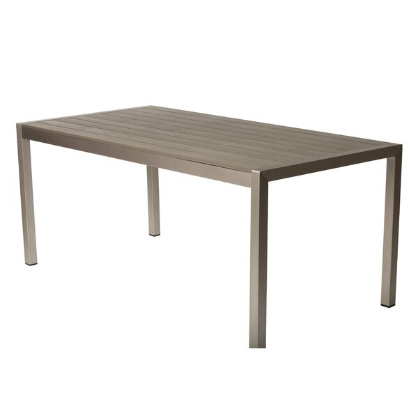 Léa Metal Dining Table by Orren Ellis