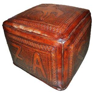 Bronco Leather Pouf Ottoman