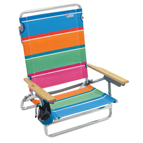 5-Position Lay-Flat Beach Chair by Rio Brands Rio Brands