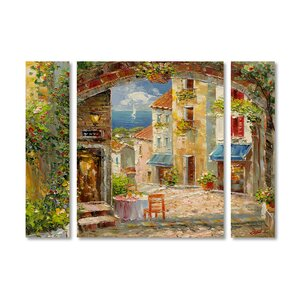 'Capri Isle' by Rio 3 Piece Painting Print on Wrapped Canvas Set by Trademark Fine Art