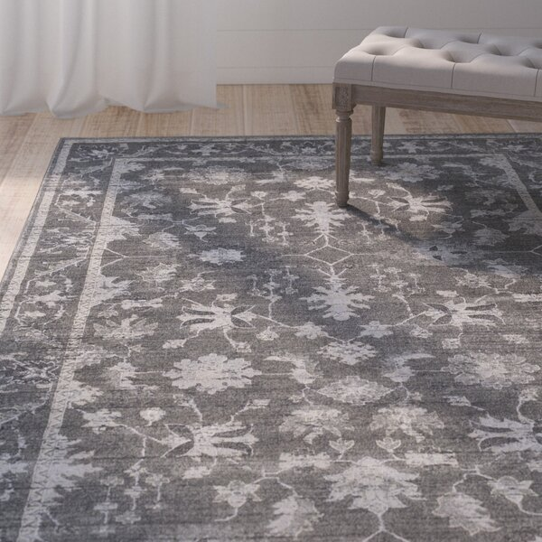 Capri Medium Gray/Charcoal Area Rug by One Allium Way
