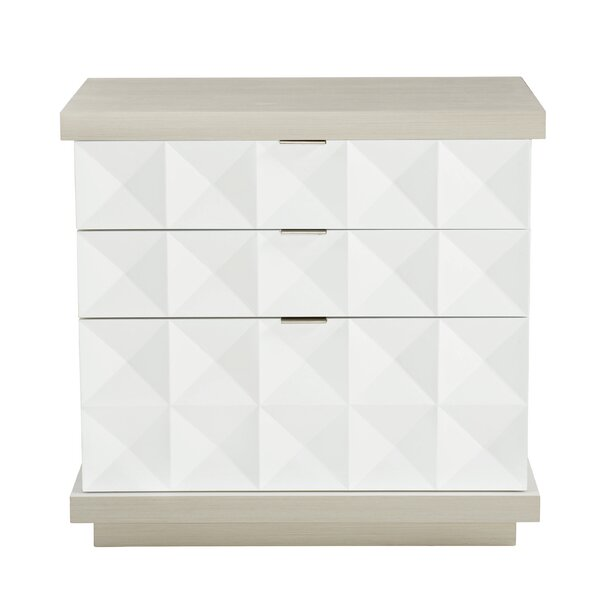 Axiom 3 Drawer Nightstand by Bernhardt