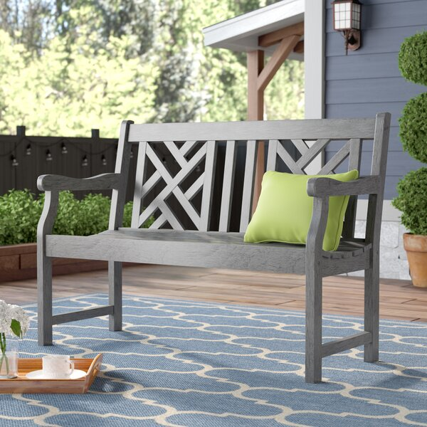 Monterry Solid Wood Garden Bench by Beachcrest Home
